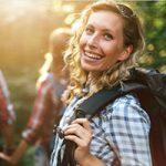 Hiker announcing September 13 and 23, 2019 free vein screening North Oaks, St. Paul Minnesota Vein Center